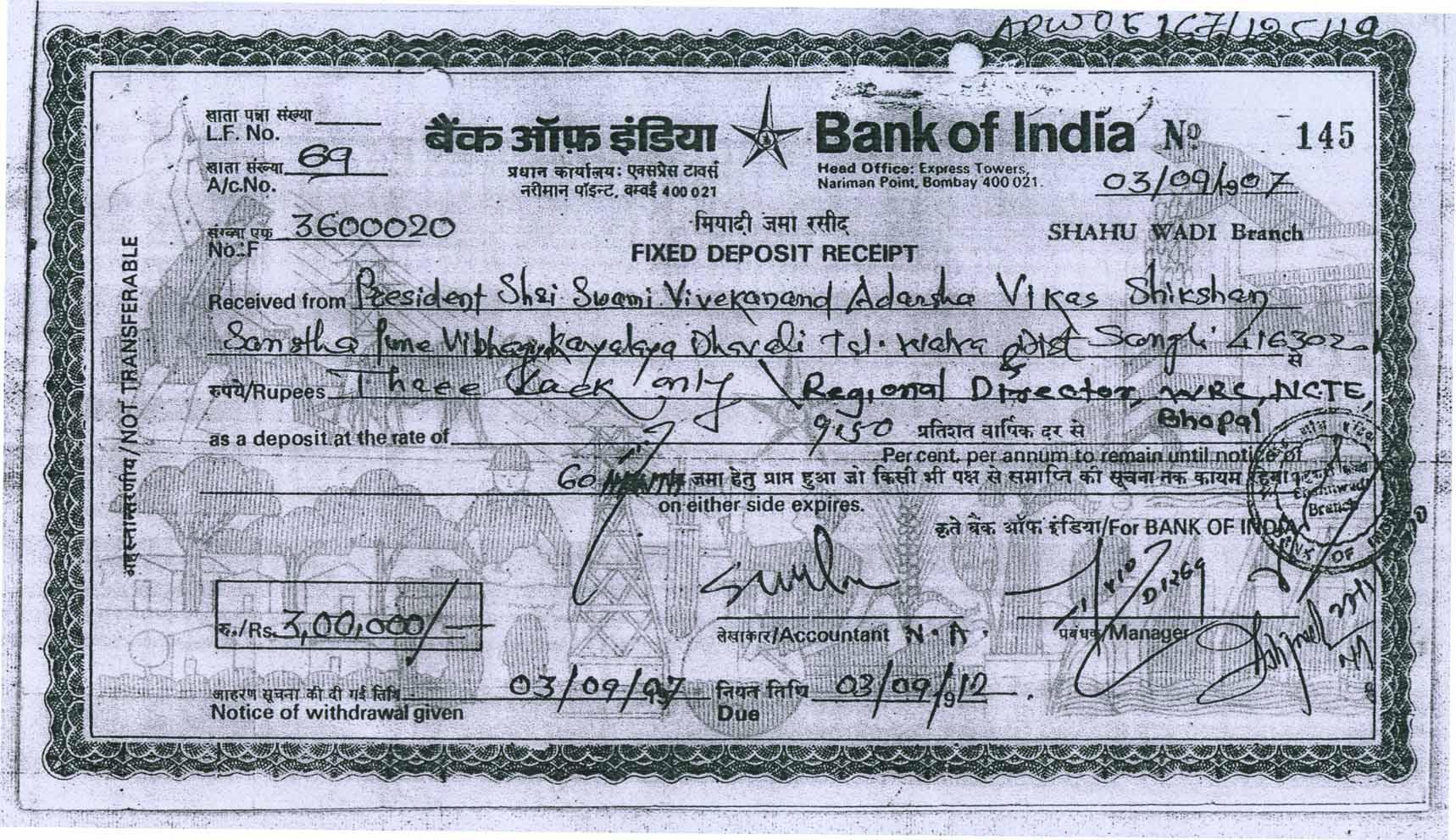 Welcome to kaiudumati patil mahila college bank deposite of rs 300000 xflitez Images